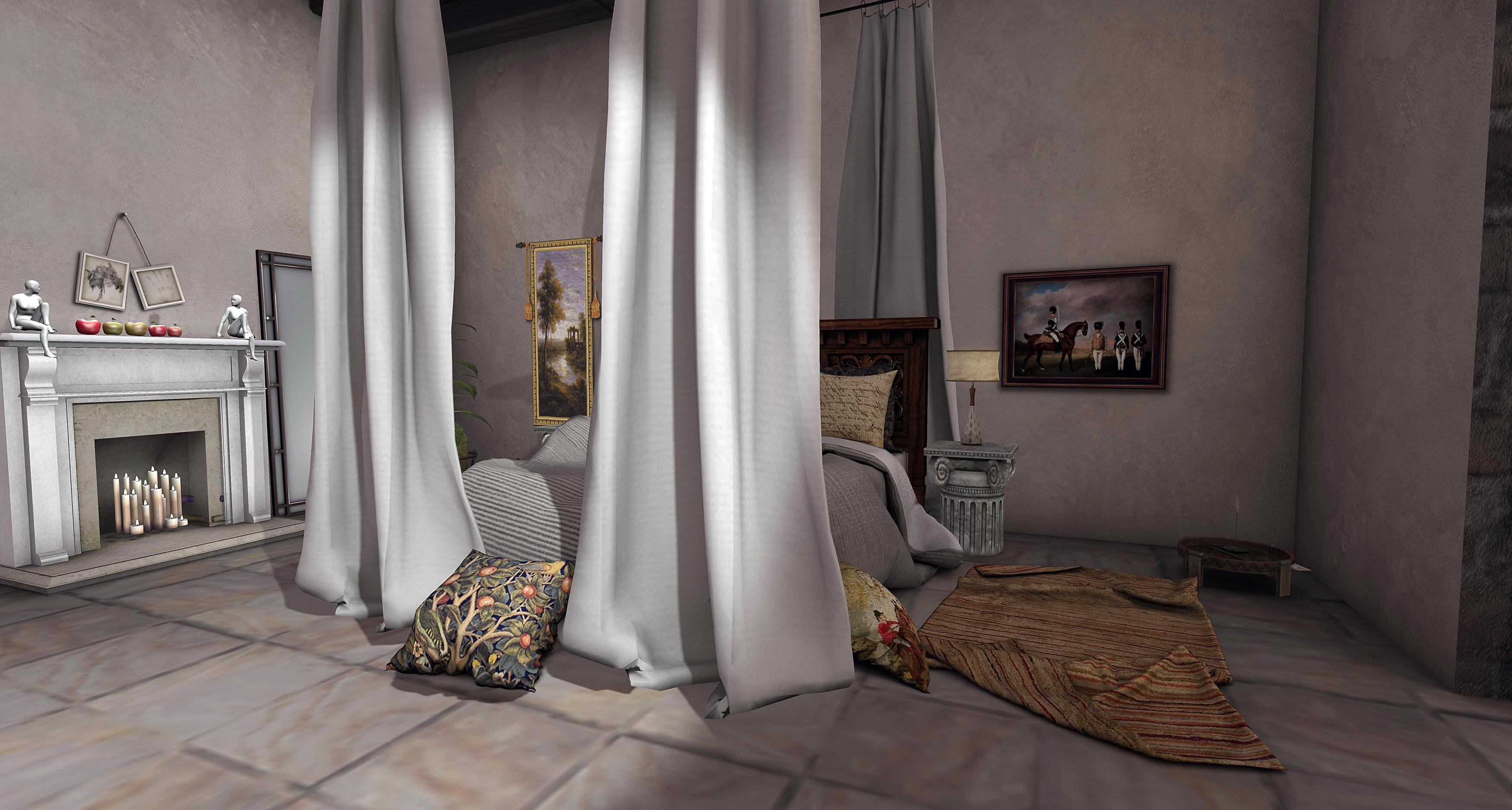 Trompe loeil the cortona villas decorating and other stuff - Trompe loeil hoofd bed ...