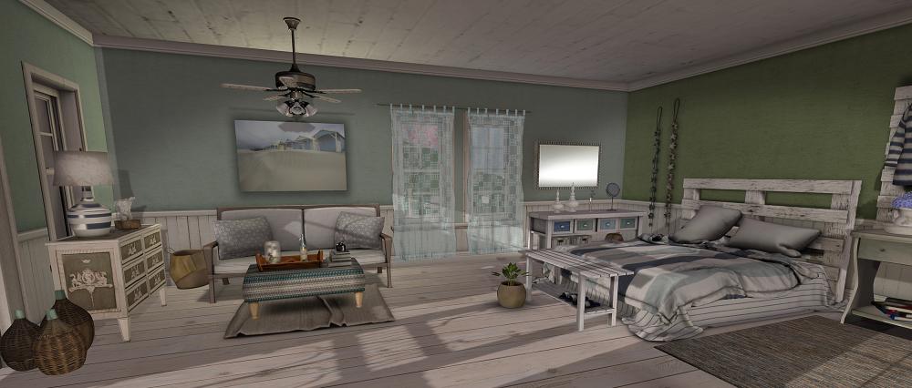 seaside bedroom